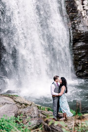 Asheville Waterfall Engagement
