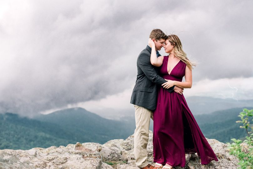 Stormy Mountain Engagement
