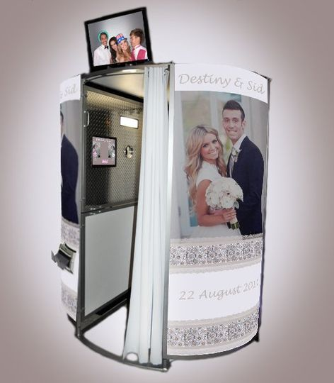 Make Your Day Special with Personalized Panels on a VEGAS CLICKS Photo Booth. A life-sized photo of...