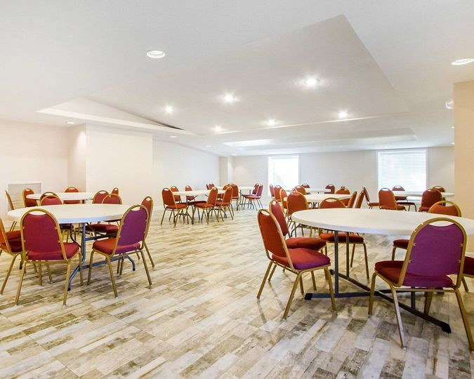 The 1800 sq ft ball room can seat 150 reception style. With room for food and dancing chairs &...