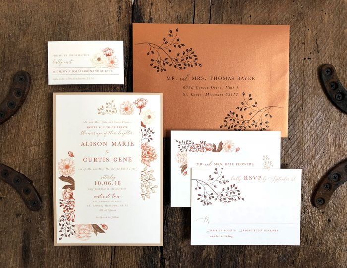 Fall Toned Wedding Suite