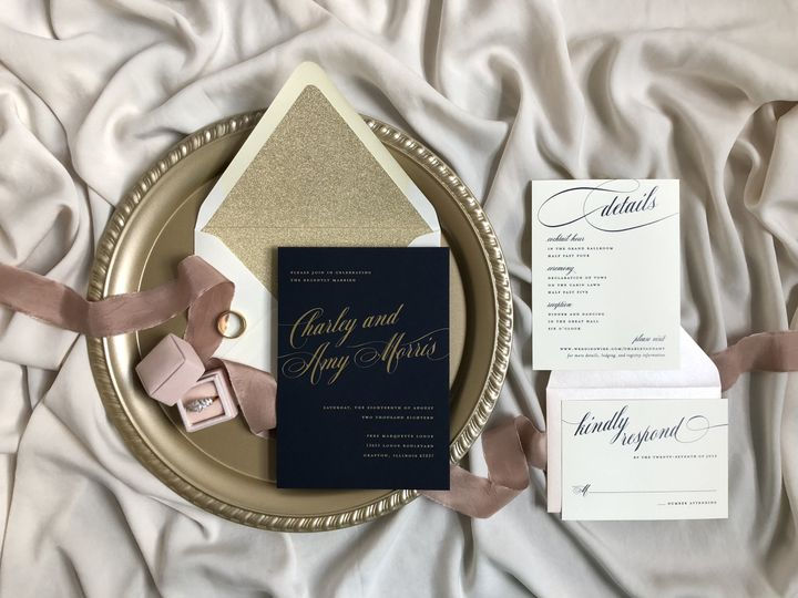 Bold Elegant Gold Foil on Navy