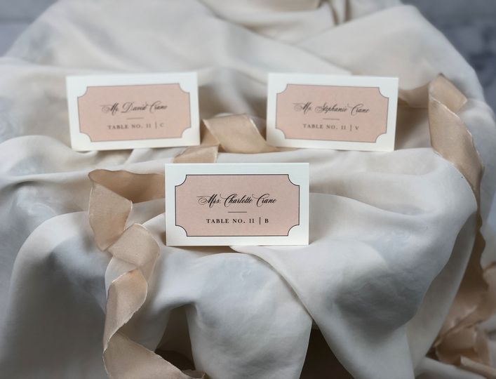 Soft Blush Place Cards