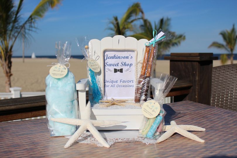 Beach themed sweets