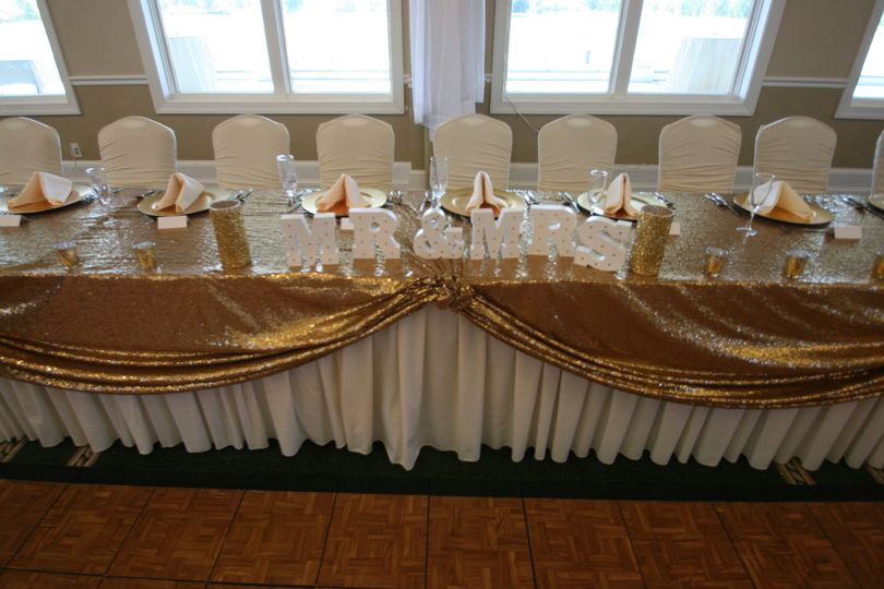 Head table setup