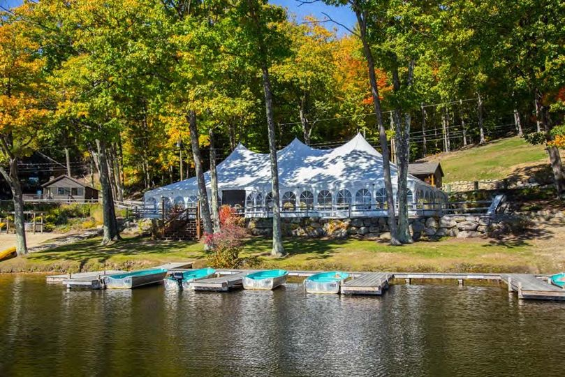 40'x80' lakeside heated tent