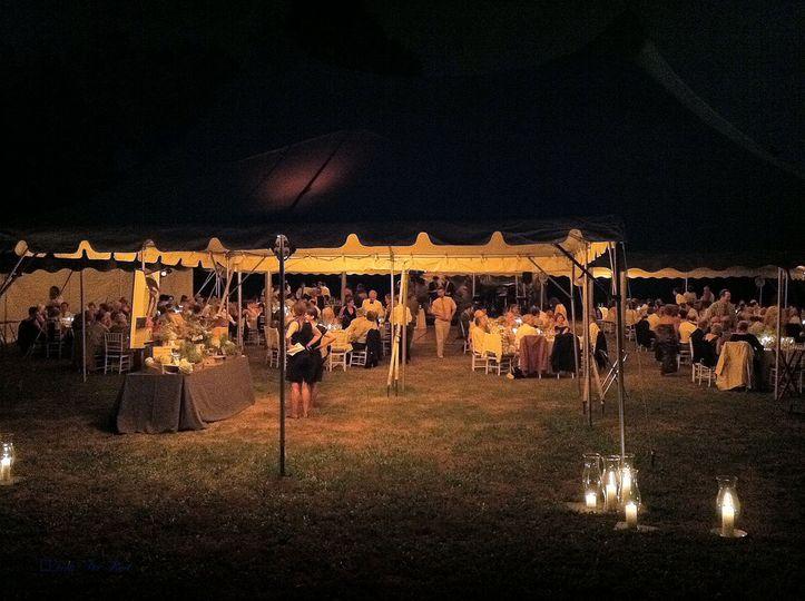 Evening tent lights