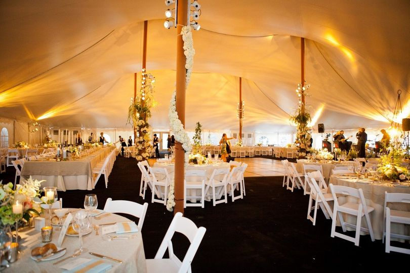 80' x 100' wedding tent with flooring