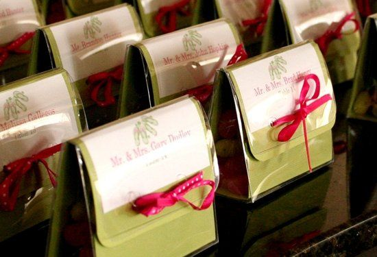 Why not combine the names and favor in ONE! This cute favor doubled as an escort card and directed...