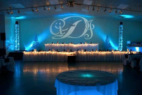 Spectacular monograms and uplighting decor