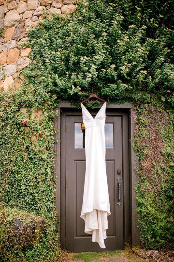 Door with dress
