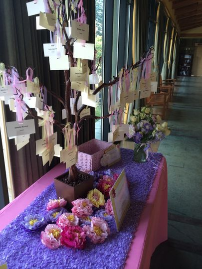 Pink and purple decorations