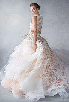 Lazaro Floral Ballgown