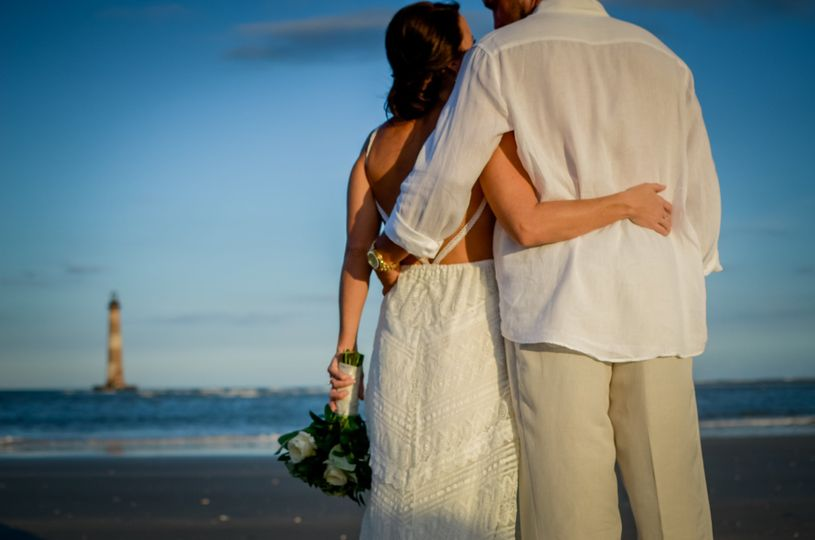 Intimate Ceremony on Morris Island