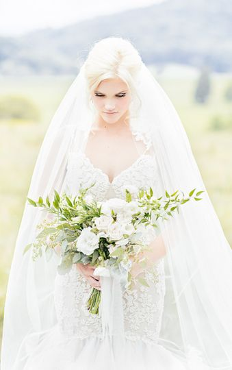 The bride outdoors