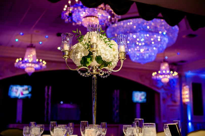 Raised floral centerpiece