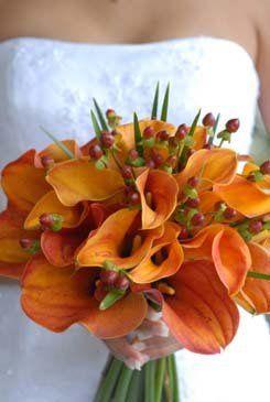 orangecallalilybouquet