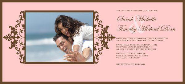 4x8, photo wedding invitation
