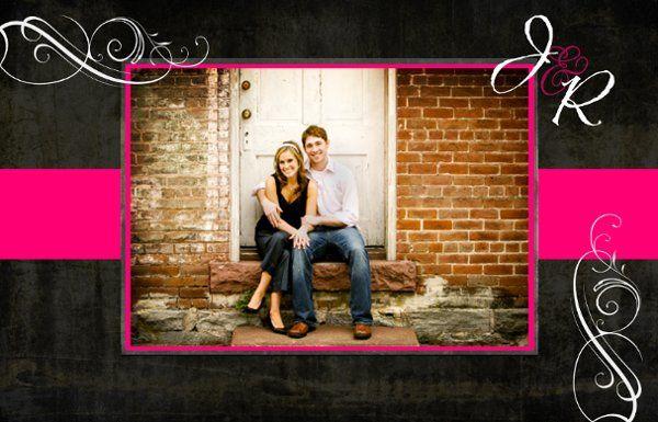 Double sided 6x9, photo wedding invitation