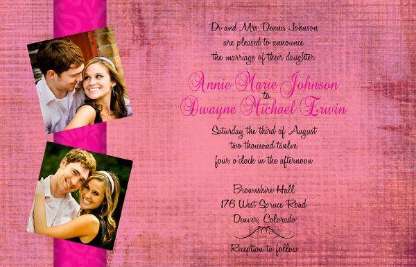 6x9, photo wedding invitation with matching set