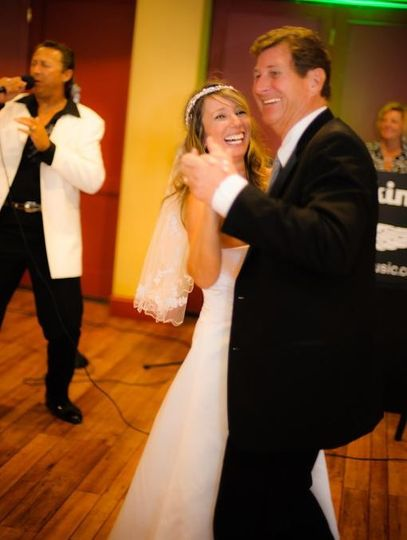 Improvising the words on the wedding couple's favorite love song!  It was a perfect Yacht Club...