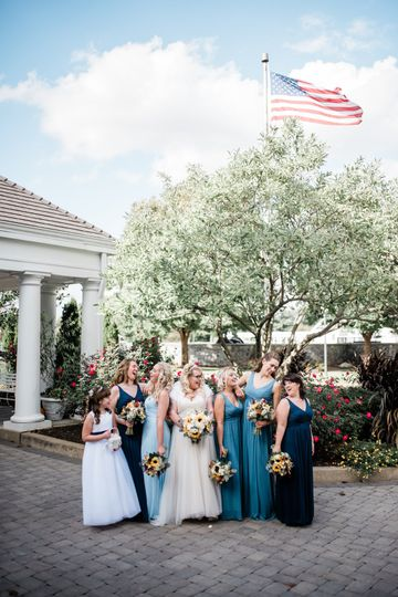 Bridal party out front
