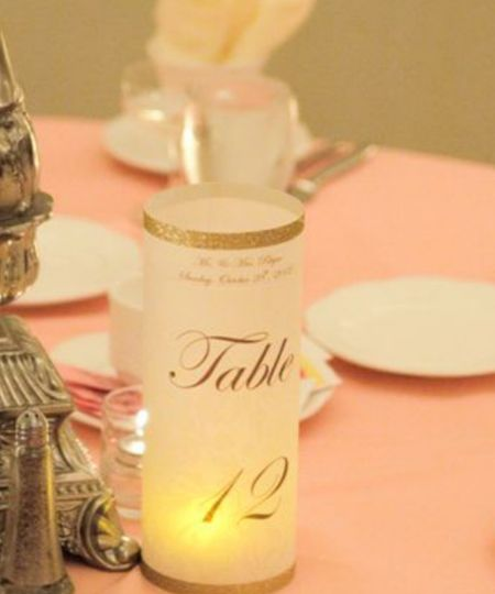 Rhym Wedding Custom made Luminary Table Numbers