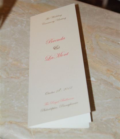 Rhym Wedding Programs