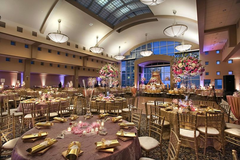The reception at the hotel