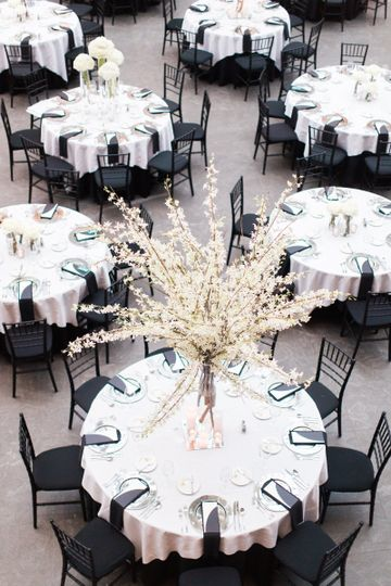 Our Mahogany Chiavari Chairs with Black Pads.