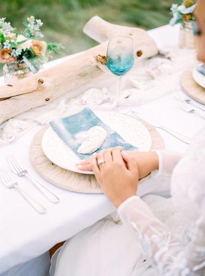 The wedding arrangements