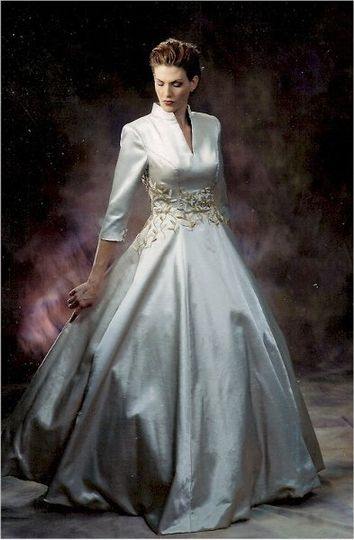 3/4 sleeve ball gowns