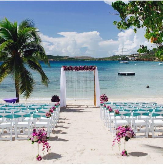 Wedding Venue Set Up @ Secret Harbor, St. Thomas, Virgin Islands