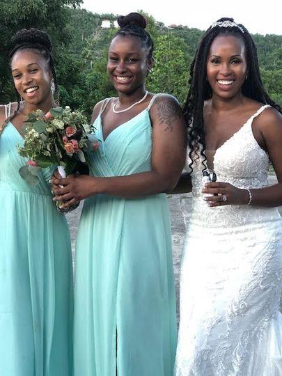 Bride and her Best gals