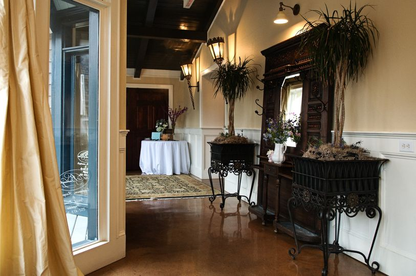 French doors in the ballroom