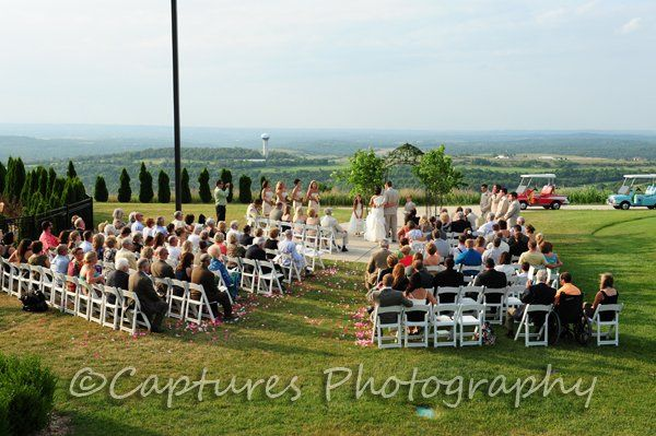 Outdoor ceremony with breathtaking views!