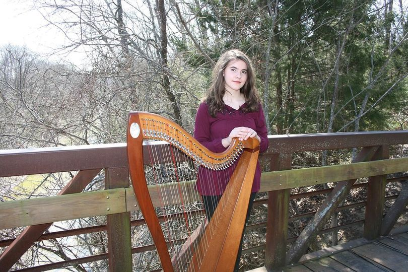 Sarah Copus, etherial harp and vocals