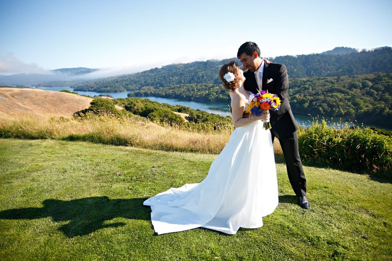 bride and groom portrait with riveria