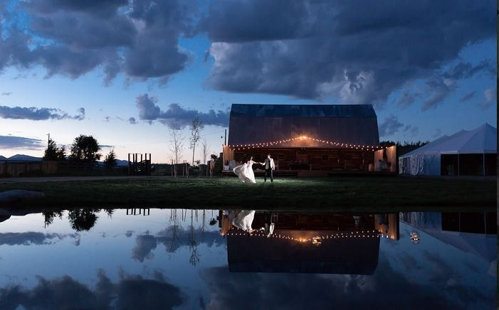 Homestead barn and marquee reception