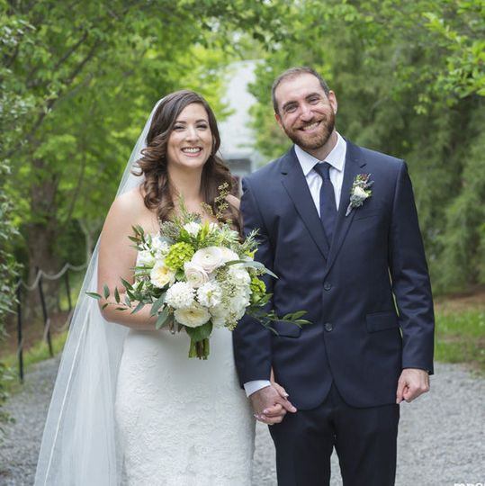 Bride & Groom at NC Arboretum