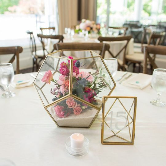 Wedding Reception Decor at Peninsula Yacht Club at Lake Norman, Wedding Flowers