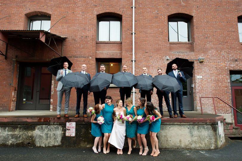 Rainy Portland Wedding