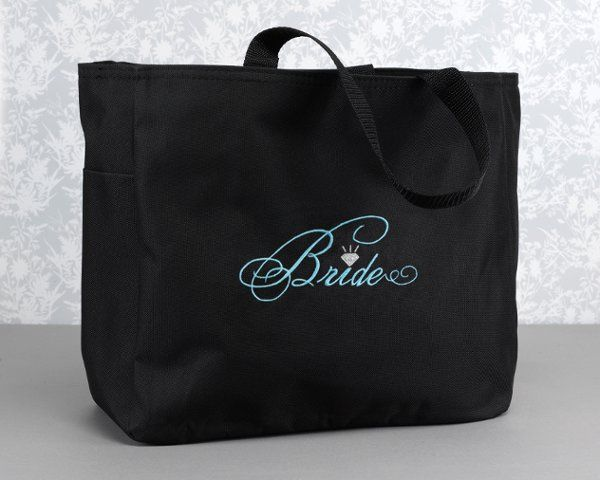 Bridal canvas bag also available for bridesmaids, maid of honor and matron of honor