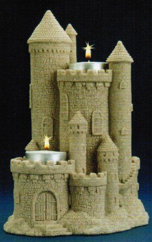 """8"""" Sandcastle Candle Holder"""