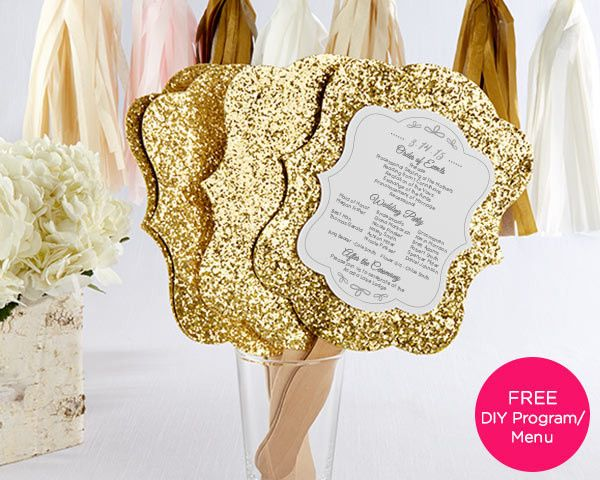 Tmx 1453763939301 Goldglitterfansnewv3l Valencia wedding favor
