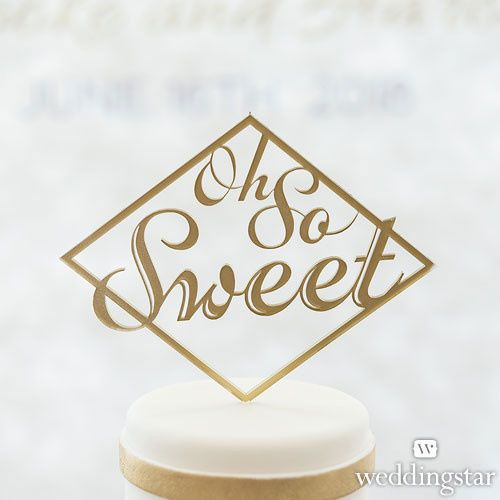 Tmx 1454015862864 4465 55 Ioh So Sweet Acrylic Cake Topper Metallic  Valencia wedding favor