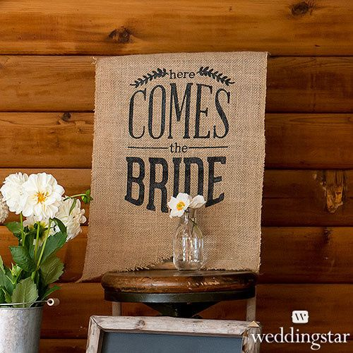 Tmx 1454015882085 9719 Inatural Burlap Ceremony Sign Black Print Her Valencia wedding favor