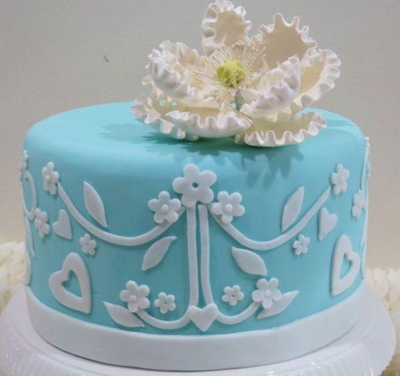 Soft blue single cake