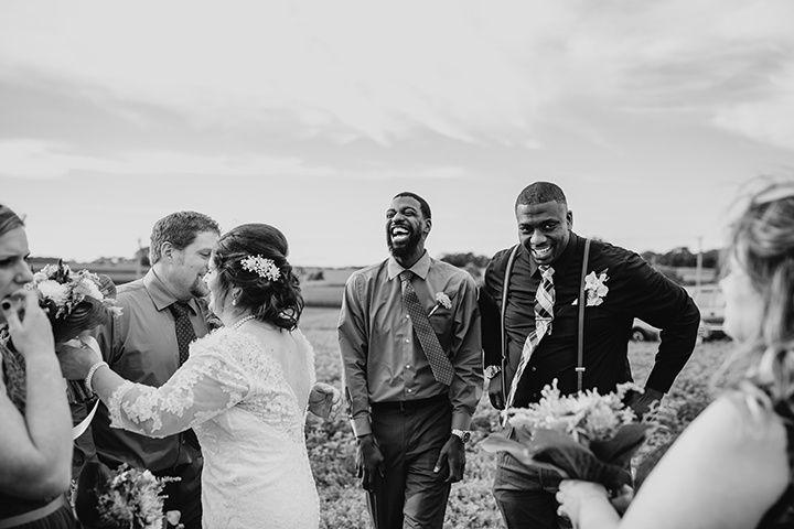 New Glarus farm wedding, WI