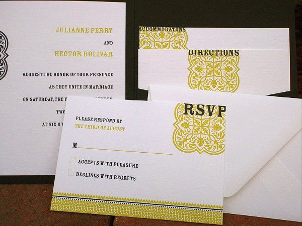 Tmx 1282667376266 BlackChartreuse3 Concord wedding invitation